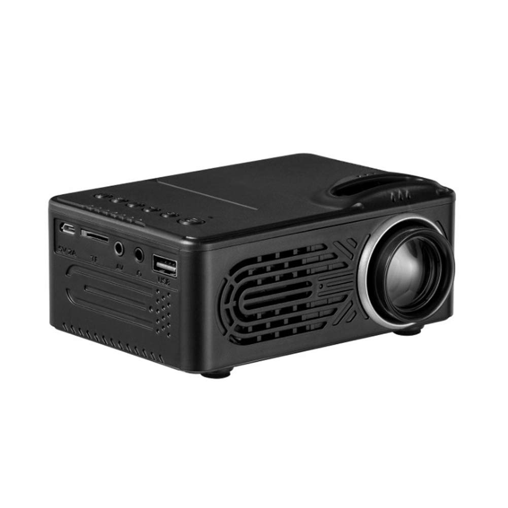 HBOY Projector Portable Home Entertainment Projector Supports 1080P HD Projection-Black by HBOY