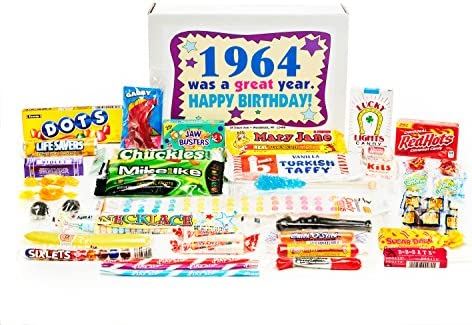 Amazon Woodstock Candy 1964 55th Birthday Gift Box Nostalgic Retro Mix From Childhood For 55 Year Old Man Or Woman Born Jr Grocery