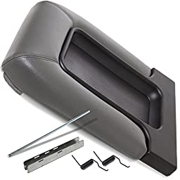 Center Console Lid Kit for Select GM Vehicles - Replaces 19127365 - Light Gray