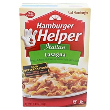 Image Unavailable. Image not available for. Color: Hamburger Helper Lasagna ...