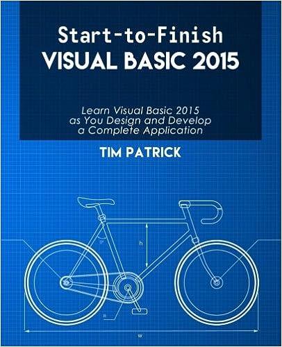 Start-to-Finish Visual Basic 2015 ISBN-13 9780692653326