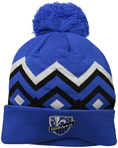 fan products of MLS Impact Montreal Men's Cuffed Knit with Pom, One Size, Blue