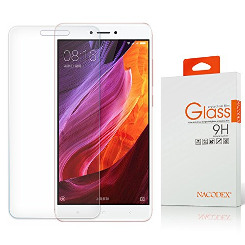 Price comparison product image Nacodex Xiaomi Redmi Note 4X Screen Protector Tempered Glass, 9H Hardness / Case Friendly for Xiaomi Redmi Note 4X 2017, Lifetime Replacement Warranty