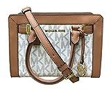 Michael Kors Dillon Monogram Small Satchel /Crossbody Bag Vanilla