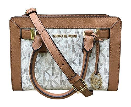 a90a97b68fa7 Michael Kors Dillon Monogram Small Satchel /Crossbody Bag Vanilla ...