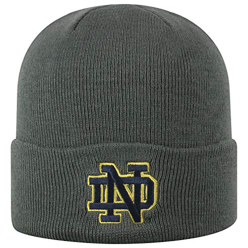 Top of the World Notre Dame Fighting Irish Men's Winter Knit Hat Icon, Charcoal, One -