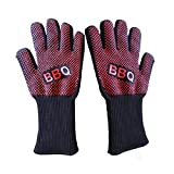 Cheap SaviCare Heat Resistant BBQ Oven Gloves, Silicone Oven Mitts, Hot Oven Cooking Gloves, Silicone Insulated Protection Heat Pot Holder for Barbecue, Cooking, Grilling and Food Handling
