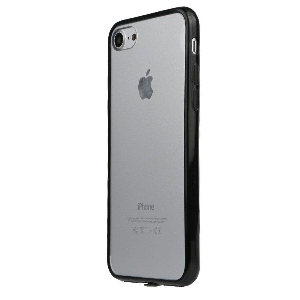 eb23b32659 Amazon | SZMM iPhone7対応 保護カバー ハード アクリル ケース 透明 iPhone7プロテクター カバー iPhone7アクセサリ  ブラック | ケース・カバー 通販