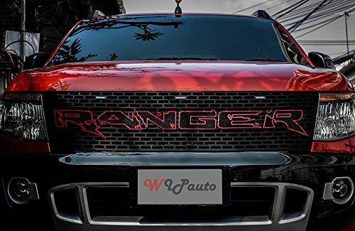 raptor front grill grille awesome red black lit ford. Black Bedroom Furniture Sets. Home Design Ideas