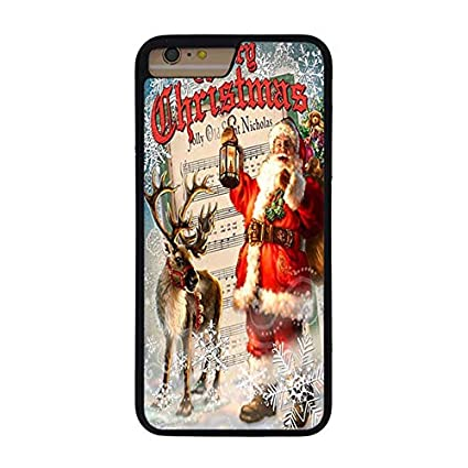 Amazon.com: FIDIKO Deer Santa Claus Merry Christmas Case ...