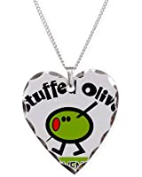 CafePress - Stuffed Olive - Charm Necklace with Heart Pendant