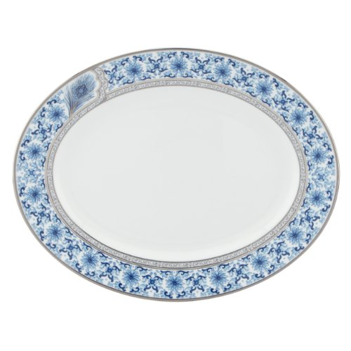 Lenox Marchesa Couture Oval Platter, Sapphire Plume