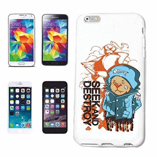 """cas de téléphone iPhone 7S """"PETIT OURS AVEC ESKIMO POISSON SUR LE CHAPEAU ITALO eiszeit IGLOO"""" Hard Case Cover Téléphone Covers Smart Cover pour Apple iPhone en blanc"""