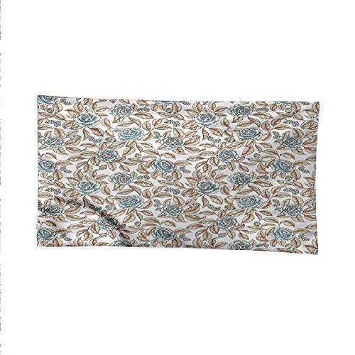 Leafspace tapestrywall Hanging tapestryRetro Rose Bouquets Art 80W x 60L Inch ()