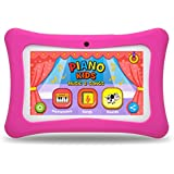 "Kids Tablet PC, 7"" HD Eyes-Protection Screen Android 7.1 1GB RAM 8GB ROM Tablet with WiFi Kids Games & Learning Software Pre-Installed for Children's Day Best Gift Set (Pink3)"