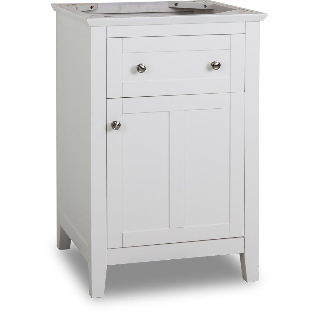 Jeffrey Alexander VAN105-24 Chatham Shaker Vanity, White