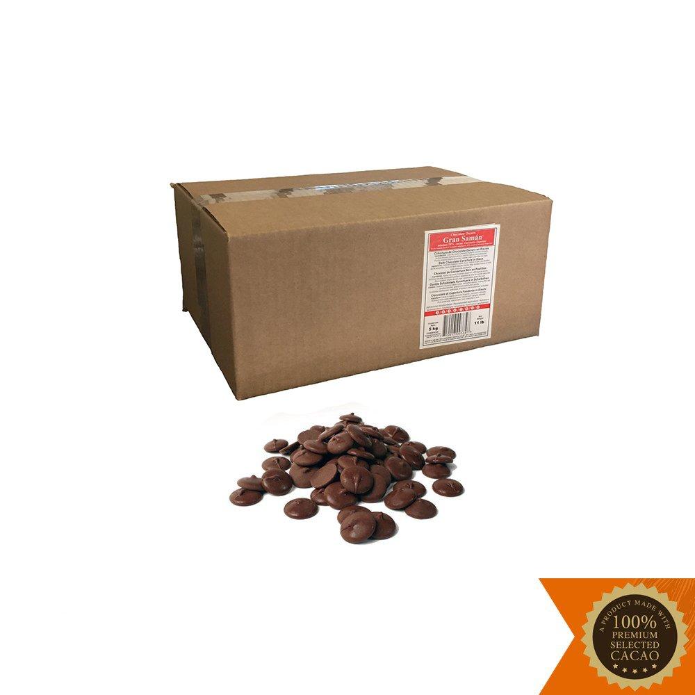 11 lb. Box of Dark Chocolate Discos (Gran Saman 70%)