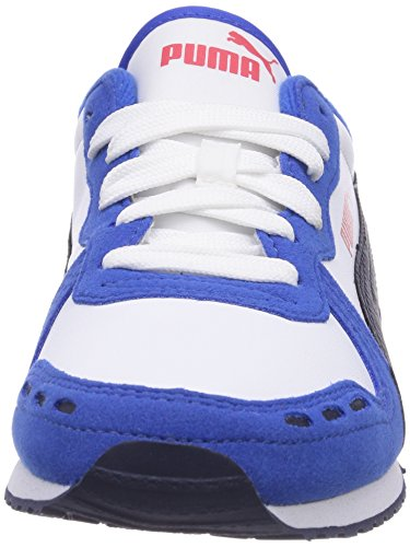 Puma Cabana Racer SL Jr - zapatilla deportiva de material sintético infantil azul - Blau (strong blue-white-peacoat 30)