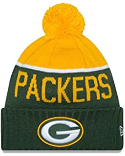 dfbd3406a New Era Knit Green Bay Packers Green On Field Sideline Sport Knit Winter  Stocking Beanie Pom