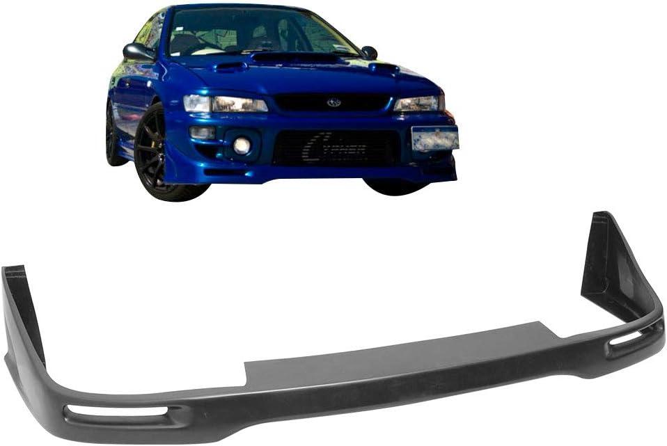 Sti Style PU Spoiler Splitter Valance Fascia Cover Guard Protection Conversion by IKON MOTORSPORTS Front Bumper Lip Compatible With 1997-2001 Subaru Impreza