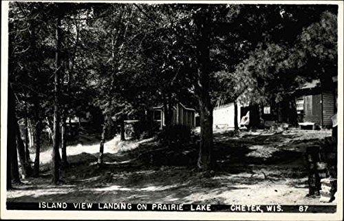 Island view landing on Prairie Lake Chetek, Wisconsin Original Vintage (Prairie Island)