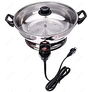 Shabu Shabu Hot Pot, Electric Mongolian Hot Pot With Divider
