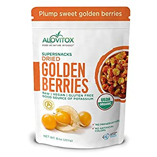 Organic Sun Dried Golden Berries 8 oz | Raw, Vegan, Gluten Free Super Snack High in Smart Protein, Dietary Fiber, Vitamin A & C | Incan Gooseberries for Eating, Trail Mix, Smoothies and Salads