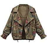 Forthery Women Camouflage Batwing Sleeve Loose Plus Size Coat Cardigan Outwear (Tag XL= US L, Camouflage)