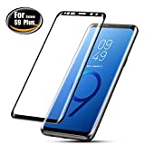 Galaxy S9 Plus Screen Protector, BEAOK S9 Plus 3D Full Coverage Tempered Glass [Anti-Scratch] [High Responsivity] HD Clear 9H Surface Hardness Screen Protector For Samsung Galaxy S9 Plus