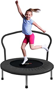 ATIVAFIT 36-Inch Folding Trampoline Mini Rebounder,Suitable for Indoor and Outdoor use, for Two Kids with safty Padded Cover
