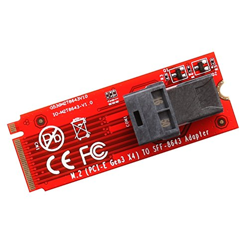 - IOCrest SYBA M.2 Socket Mini-SAS HD to U.2 Cable (SFF-8643 to SFF-8639) Connector for U.2 PCIe-NVMe SSD U2 U.2 Kit Cable Included