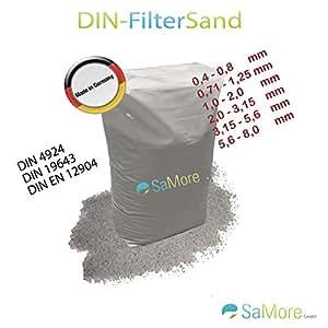 25kg meinpool24.Filtro de arena filtro grava DIN filtro de arena 5,6–8,0mm H1