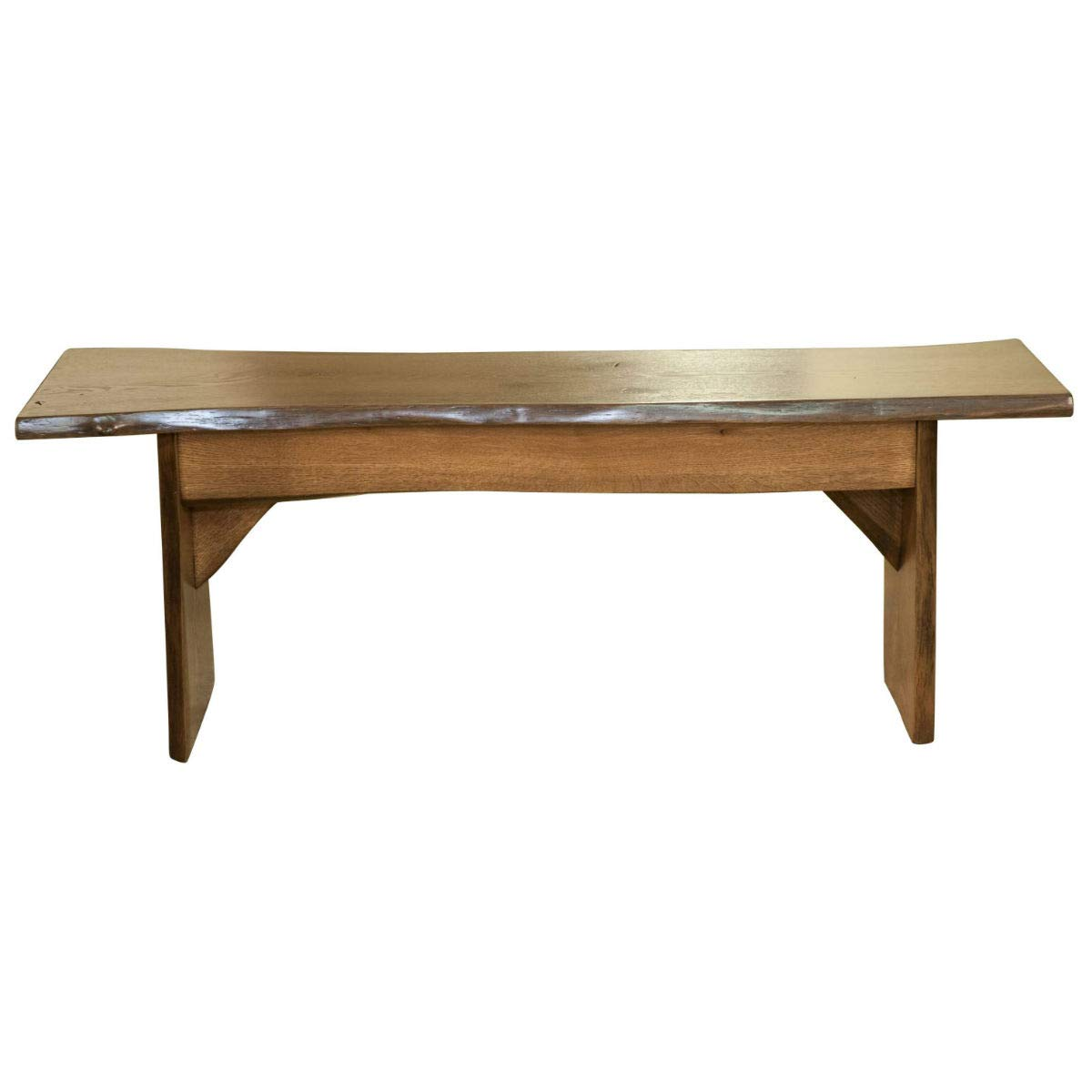 Amazon Com Live Edge Wooden Bench Solid Wood Dining Bench