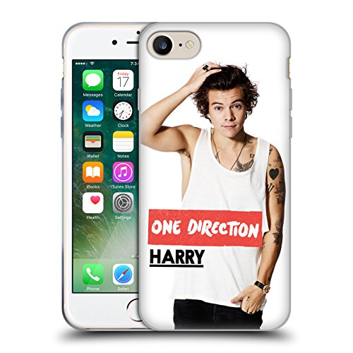 Official One Direction White Tank Harry Styles Photo Soft Gel Case for Apple iPhone 7 / iPhone 8