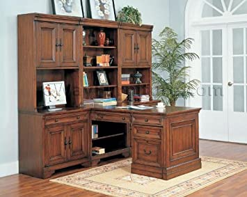 warm cherry executive modular home office furniture set cherry office furniture