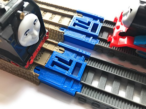 TrainLab TrackMaster (2014-cur) to TrackMaster (2009) Train Track Adapter 2pc (Brown Adapter)