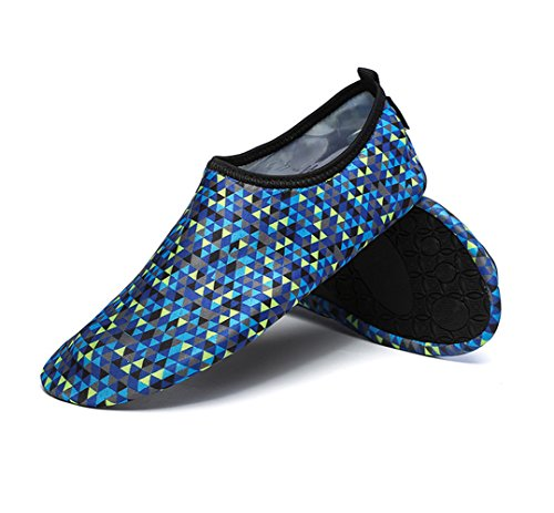 Printed Barefoot Water Skin Flexible Shoes for Beach Swim Surf Yoga Exercise Blue nTR78qlU2