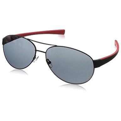 754712ada2d70 Amazon.com  Tag Heuer Sunglasses LRS 0256-110 Black Red   Grey ...