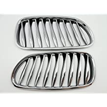 (2) Front Chrome Kidney Grill Grille GRILLE For 2002-2008 BMW Z4 E85 E86