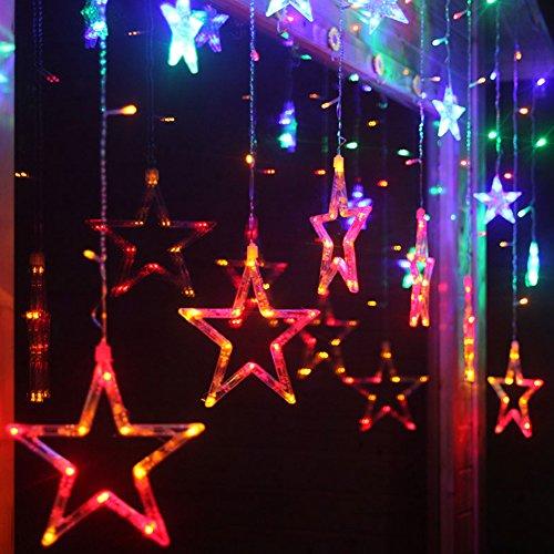 Ucharge Curtain Light Fairy Star Curtain Lights 12 Stars