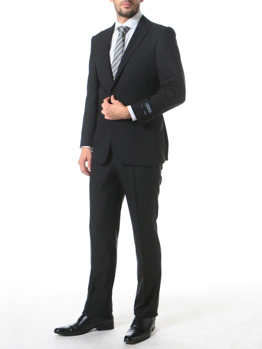 (ハイブリッドビズ) HYBRIDBIZ HYBRIDBIZ TRAVELER パンツウォッシャブル ダイヤ柄 シングル 2ツ釦 ノータック パッカブルスーツ B0765R8LTR BB7|ブラック ブラック BB7