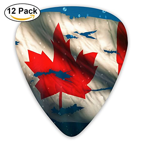 12-pack Fashion Classic Electric Guitar Picks Plectrums Canada Flag Under Water Instrument Standard Bass Guitarist -