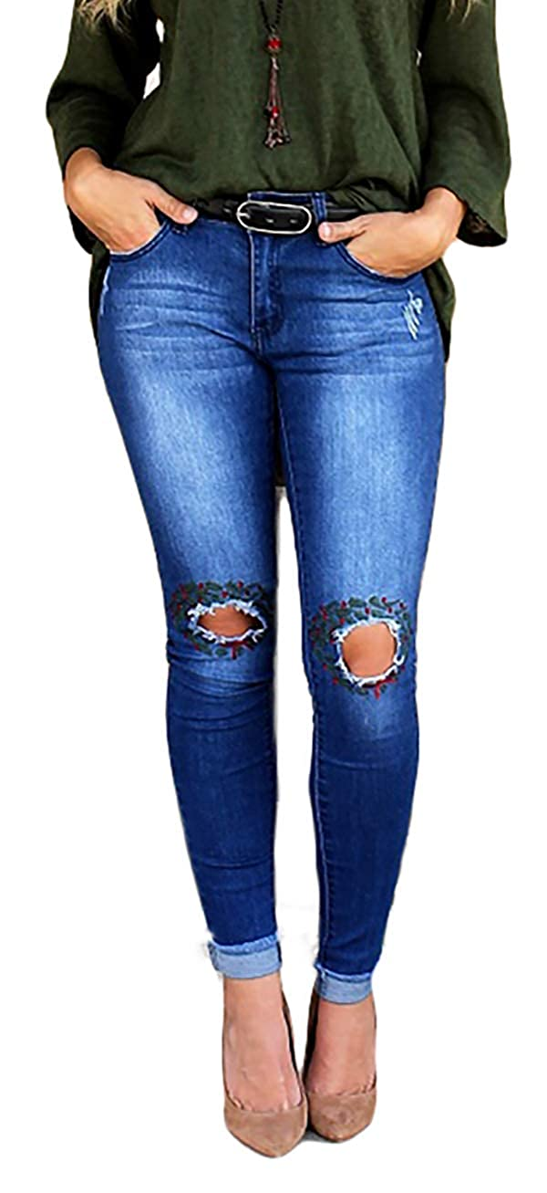 preview of order meet Amazon.com: L&B Women's Denim Blue Skinny Jean with ...