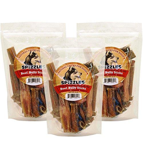 3PACK Spizzles Beef Bully Sticks (24 oz) (Spizzle Sticks)