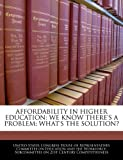 Affordability in Higher Education, , 1240485018