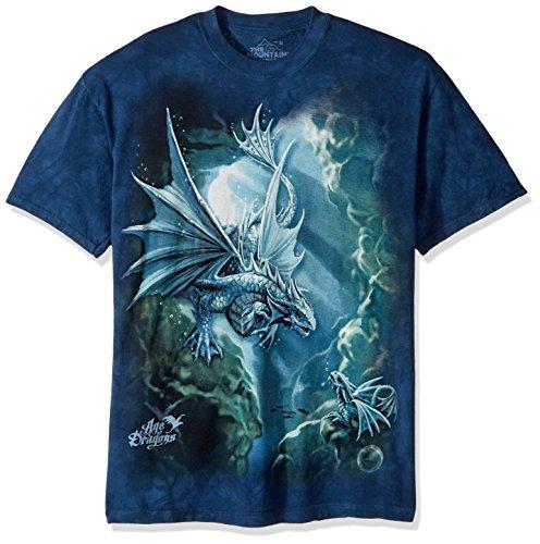The Mountain Sea Dragon Adult T-Shirt, Blue, XL