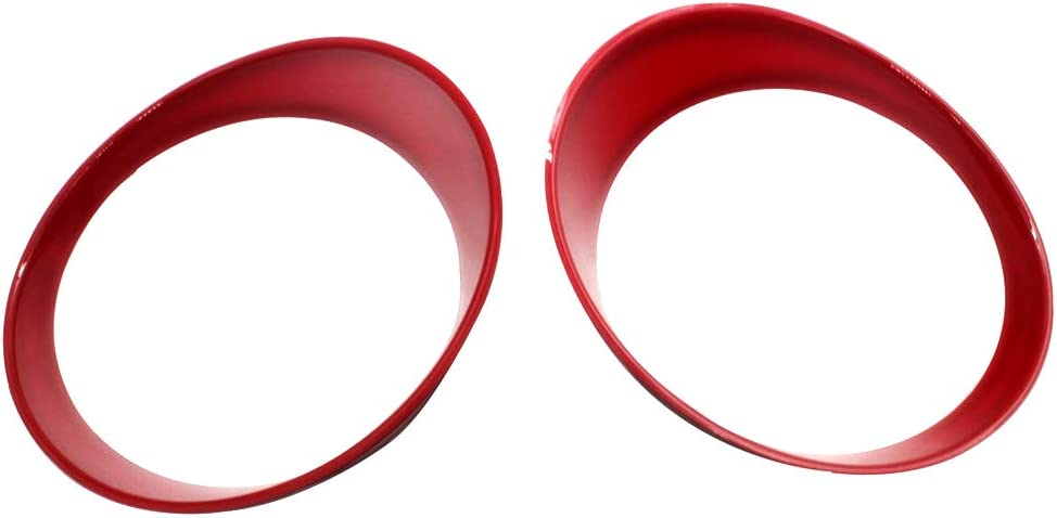 DEF Front Headlight Lamp Cover Round Trim for 2007-2018 Jeep Wrangler JK /& Wrangler Unlimited Red