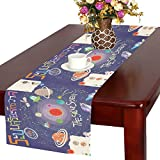 your-fantasia Custom New the Solar System is a Gravitationally System Cotton Linen Table Runner 14x72 inch