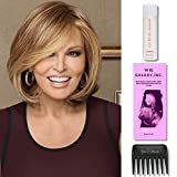 Upstage by Raquel Welch, 2oz Travel Size Wig Shampoo, Wig Galaxy Hairloss Booklet, & Wide Tooth Comb. (Bundle - 4 Items), Color Chosen: RL 12/16