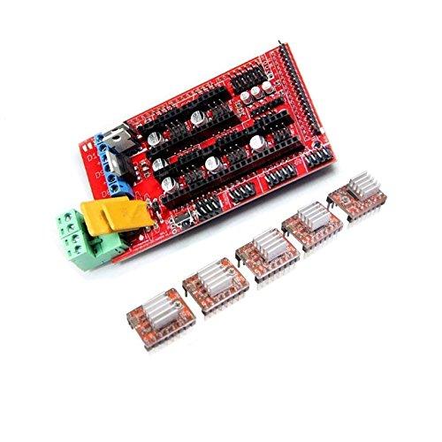 powerday RAMPS 1.4 Controller + 5pcs A4988 Stepstick Driver Module for 3D Printer RepRap